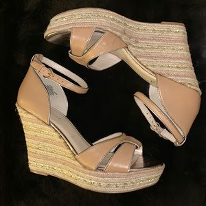 🌸 9WEST Wedge Espadrilles, 'Jacoby' Tan, size 8.5